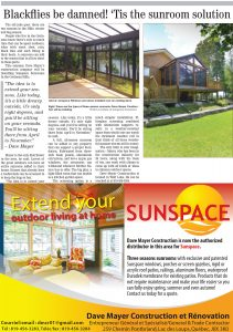 The Low Down To Hull and Back News article on Sunrooms