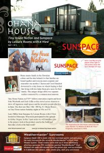 Sunspace Sunroom on Tiny House Nation